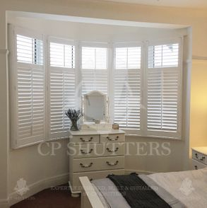 Custom plantation shutters in Essex, UK fitted by CP Shutters