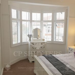 We come across hundreds of bay windows throughout Essex, like this bedroom in Leigh-on-Sea, our bespoke interior shutters looked amazing.
