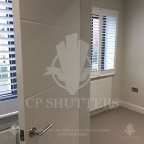 Our custom plantation shutters were installed throughout this Essex home.