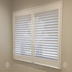 Our Interior wooden bespoke window shutters are created using traditional woodworking techniques