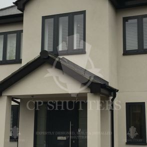 Shutters creating the very best wood materials, fitted in this family home, essex