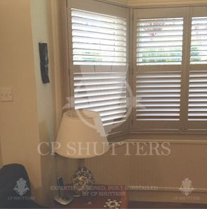 Bespoke wooden shutters, fitted in southend by CP Shutters