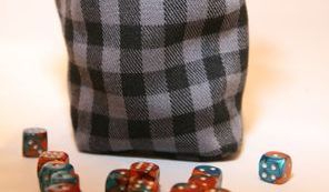 Grey Check Dice Bag