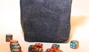 Plain Dice Bag teal and denim