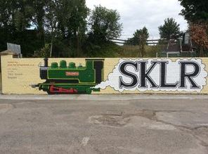 trains sklr railway mural