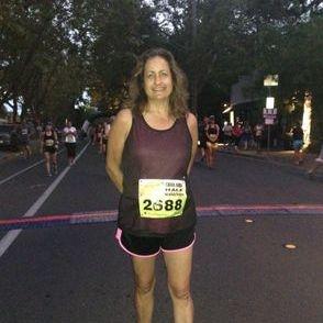 Laura after her first 1/2 marathon