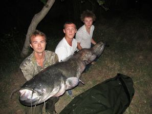 Ebro Catfishing holidays, family and  friends Lower Ebro River Guided catfishing