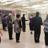 Dance instruction in a class