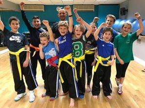 Master Wez Lucas and his junior class