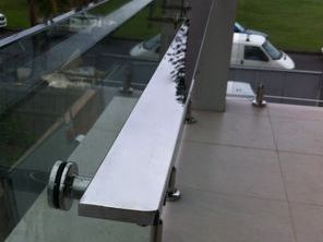 Stainless steel grab rails