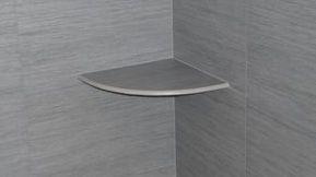 Bullnose porcelain shower shelf