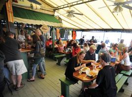 Waterfront dining, restaurants, fish, seafood, wings, lobster, beer