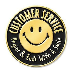 customer service smile always
