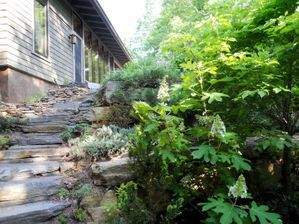 stone work, stone steps, landscaping slope