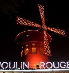 "src=""australian womens travel.jpg alt=womens travel,moulin rouge windmill , paris france """