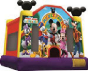 Mickey mouse bounce house, Discount Inflatable Bounce house rentals, Huge selection, great service, Long Island Ny Party Rentals, Bouncers, Tents, Waterslides, Games, Dunk tanks