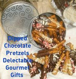 Chocolate Pretzels,  Chocolate Strawberries