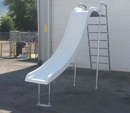 straight water slides with ladder