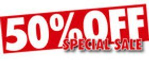 same day delivery with 50%  discount