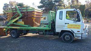 image of eastern skip hire's - bin hire melbourne delivery truck
