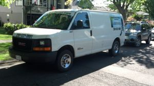 Van used for cleaning