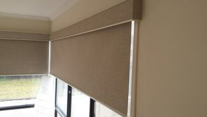 Matching Roller Blind and Pelmet