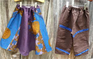 African inspired printed fabric, hemp fabric, hemp kids clothing, eco-friendly kids clouting, fair-trade African clothing