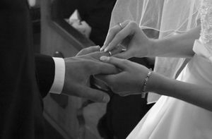the exchanging of wedding rings