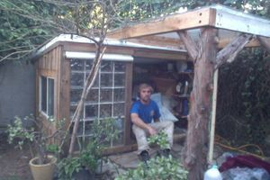 Tiny House made entirely of reclaimed materials.