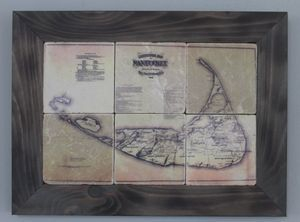 1869 Nantucket Map Coasters