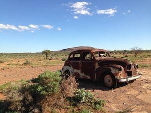 Camel Trekking Safaris Tracks the Movie Set Prop on Beltana Station Flinders Ranges South Australia