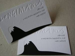 black letterpress foil and blind debossed business cards