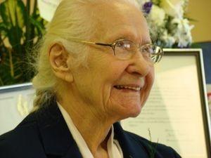 One of Shelburne's Centenarians. Adorable Doris Cox