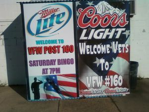 Entrance into the VFW Post 160 are behind our welcome signs.  Please, ring door bell.