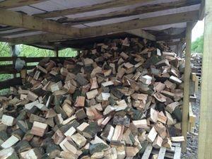 Dry, seasoned hard wood logs