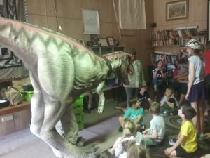 Draco the dinosaur visited one school holidays
