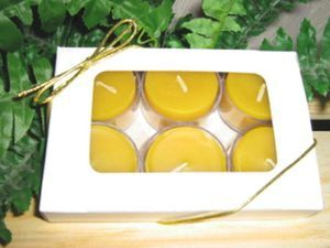 100% Pure & Natural Beeswax Tealights - 6 pack
