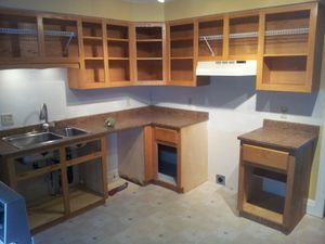 painting formica cabinets before