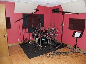 The drum room at Nashville Trax
