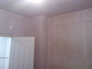 Fully plastered finish