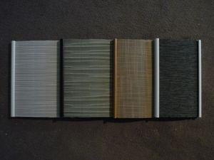 alumimium pelmets with a fabric insert