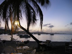 Christiansted harbor at sunset