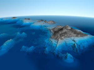 CGI of the Hawaiian Islands