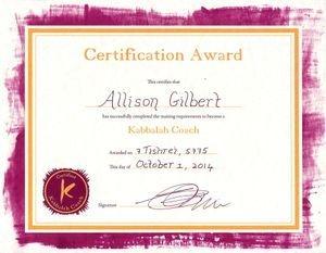 Kabbalah Coaching Certificate