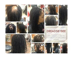 dreads by bee done at The Braiding Depot inc.