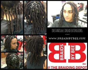 Bee starts his dreadlock  journey with InstantLocs Dread Extensions,  although his hair is long his hair will take up to a year to dread up naturally so this is the closest the option to natural.