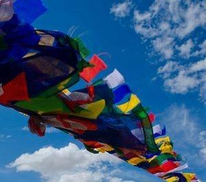 Prayer Flag over Namgyal Tsemo