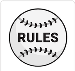 Baseball Rules in Black and White Icon