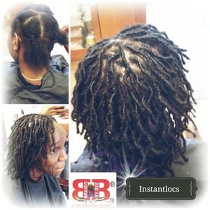 Braids by Bee starts dreadlocks with extensions permanently
