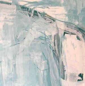 Grayish 36 x36in art